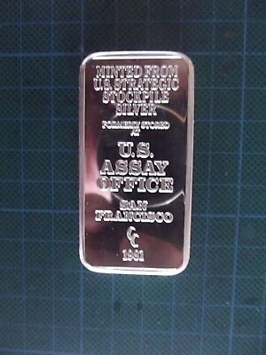 5 Troy Oz, 1981 U.S. Assay Office, San Francisco.  .999 Fine Silver Bar.
