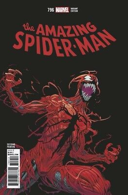 AMAZING SPIDER-MAN #796 2ND PRINT VARIANT Marvel Comics NM Presale 3/20/2018