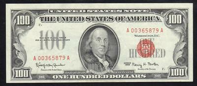 Fr 1550 1966 $100 Legal Tender Note RED SEAL United States Note A00365879A