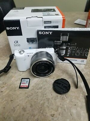 SONY Alpha a5100 24.3MP Digital Camera - White (with OSS 16-50mm Lens)
