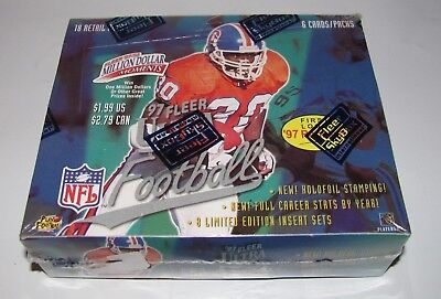 1997 Fleer Ultra Football Cards Retail Box 18 Packs 6 Cards Per Pack New Sealed