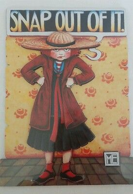 Mary Engelbreit Snap Out Of It Cards to Keep Stand Up 3-D Plaque Sunrise NIP