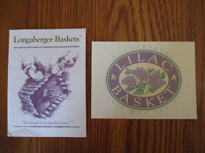 Longaberger May Series 1994 Lilac Basket - 2 Product Cards