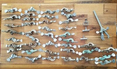 Large Lot. Lab laboratory clamps. holders. +++