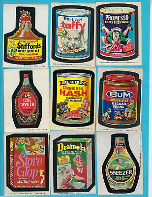 Lot of Fifty-four (54) Vintage 1970s Wacky Packages