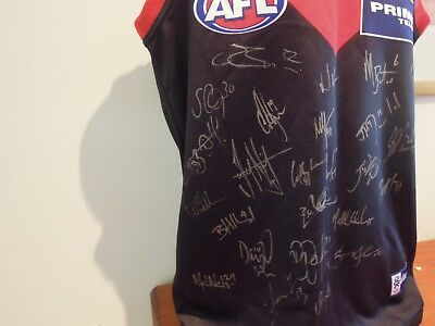 Melbourne Demons Hand Signed Jersey/jumper Asics Primus Sized Large