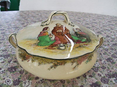 Super Rare Royal Doulton Under The Green Wood Tree Tureen 1911