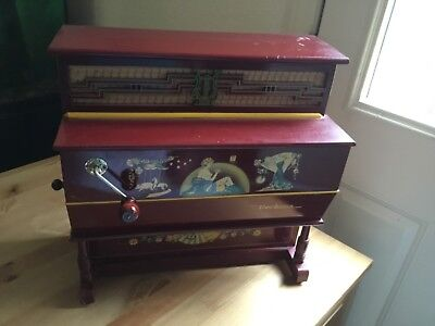 "Antique Hand Crank Barrel Organ ""Verbena"""