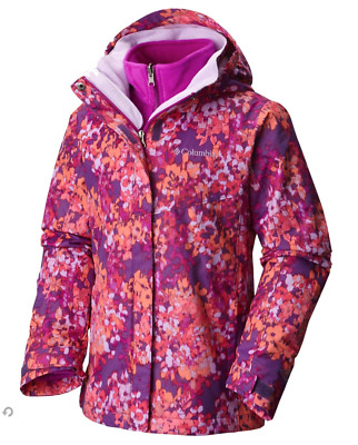 New Girls COLUMBIA Bugaboo Interchange Omni Heat 3 in 1 winter jacket coat