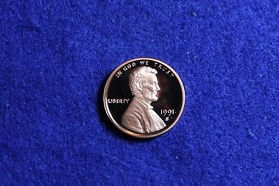 1991 S Proof Deep Cameo Lincoln Memorial Cent