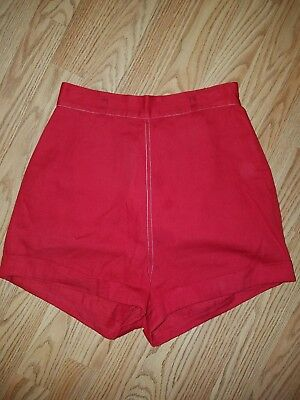 1950's red pin up shorts