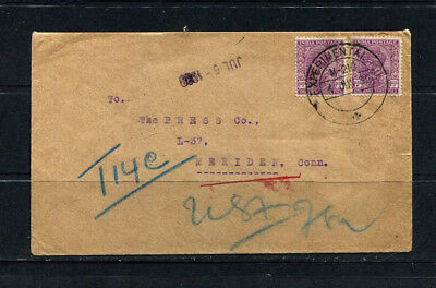 India Rare Kgv 1938 Cancelled Experimental ? Addressed To Meriden Usa Lot 225