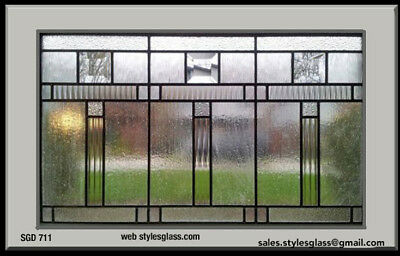 Lead glass window Clear & Texture  art glass  Dark Antique