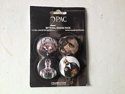 Tupac Official 4  Badge Pack Bp80104 *nip*