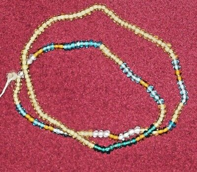 "A VERY NICE 24"" STRAND OF EARLY 1800's  FUR TRADE BEADS NECKLACE ~   A469"