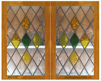 Lead Diamond Cabinet Door Glass Inserts Custom made to your size