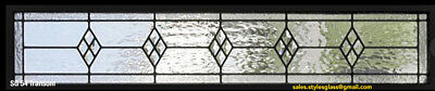 "Beautiful Genuine Leaded glass Transom window 12"" x 60"""