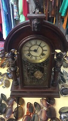Ansonia King Mantle Clock Antique Not Tested