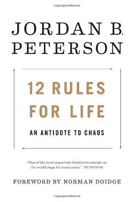 12 Rules for Life An Antidote Chaos by Jordan B. Peterson Hardcover FREE SHIP