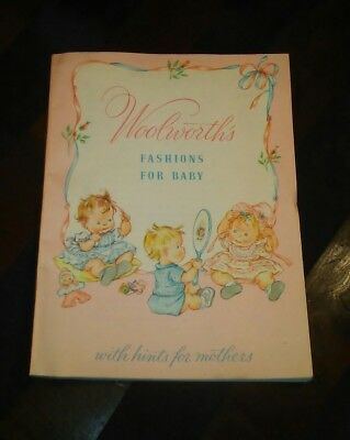 Vintage 1956 Woolworth's Fashions For Baby Catalog With Hints For Mothers #222