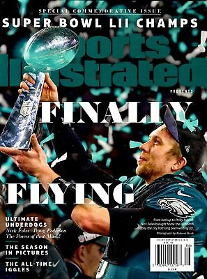 Sports Illustrated 2018 Nick Foles Philadelphia Eagles Finally Flying Champs NEW