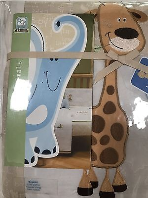 BNIP Living Textiles Cot Cot Quilt Cover Baby Animals Theme