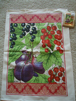 CAMPAGNA Cotton Kitchen Towel By Michel Design Works   Lavender .