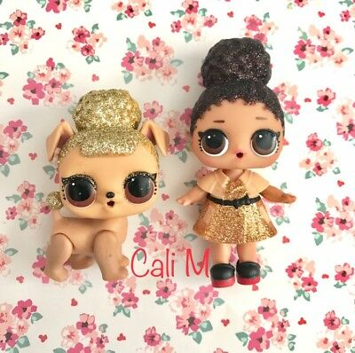 LOL Surprise Doll BOSS QUEEN and PUP BEE RARE GOLD BALL Mint Condition