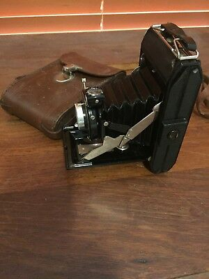 Vintage Kinax folding Camera with Leather Case