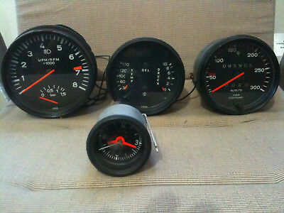 1977 Porsche 930 Gauges Speedo Tachoclock Boost All Originalvdo Hard To Find