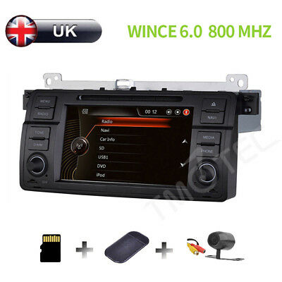 "BMW E46 318 320 325 M3 7"" Car Radio DVD Player Stereo GPS Navigation map Canbus"