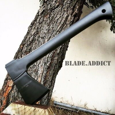 "14"" CARBON STEEL TACTICAL HUNTING AXE CAMPING THROWING HATCHET SURVIVAL COMBAT-a"