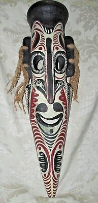 Wood Face Mask Native Tribal PNG Pacific Souvenir Trade Wall Hanging 52CmT