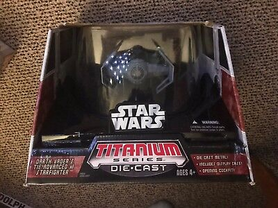 Hasbro 2006 Star Wars Titanium Die Cast Ultra VADER'S TIE ADVANCE Factory Sealed