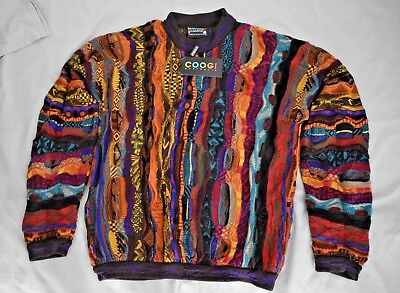 1990s Coogi Australian Made 100% Pure New Wool Jumper New With Tag Size M