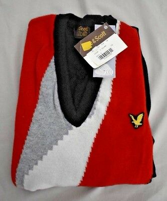 Vintage Lyle & Scott 100% Pure New Wool Jumper New In Pack With Tag Size SM