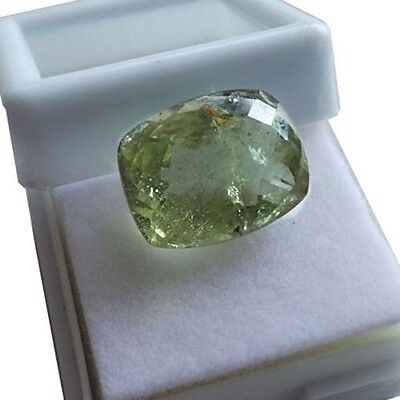 Cushion Cut Certified Natural Beryl Aquamarine Green 10.10 Ct Genuine Loose Gem