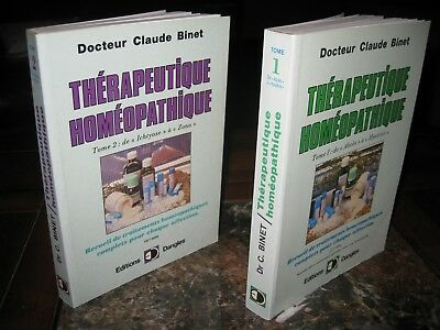 THERAPEUTIQUE HOMEOPATHIQUE 2 tomes du Docteur Claude BINET