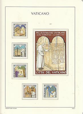 VATICAN 2001 Pope's Journeys Set and MS  MUH