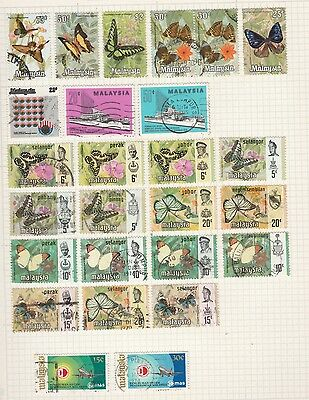 MALAYSIA  Butterflies, Ships, MAS, Old Book Pages, Removed to send #