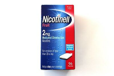Nicotinell Fruit 2mg Medicated Chewing Gum Regular Strength - 96 Pieces