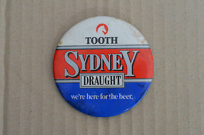 Large Old Tooth Beer Sydney Draught Advertising Badge
