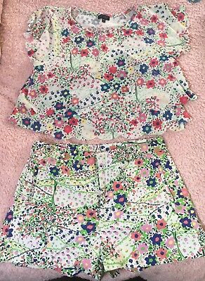 Floral summer Topshop matching coords set (top & shorts) Size 14 *holiday*