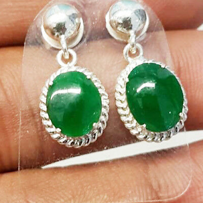 Untreated Natural Jade Green Type A Pair Myanmar Oval Cabochon Loose Gemstone