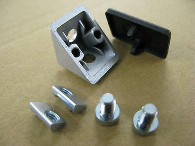 20x20 Aluminium Extrusion/Profile Angle Bracket (5mm slot)10 off Jigs and Frames