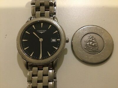 Longines Cal L161.2 watch with stainless steel band