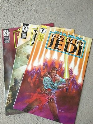 Dark horse star wars tales of the jedi comics issues #1, #2 and #3