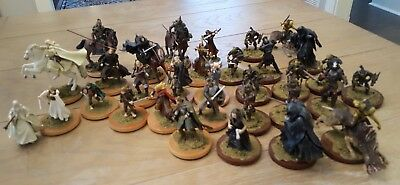 Huge 32 Pc Lot Of Early Rare Lord Of The Rings Figurines Figures Game Piece