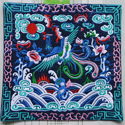 Chinese Ancient Silk Class Official Embroidered phoenix Pattern Exquisite Design