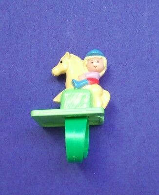 1990 Polly pocket POLLY ON HER PONY  RING 100% complete RARE